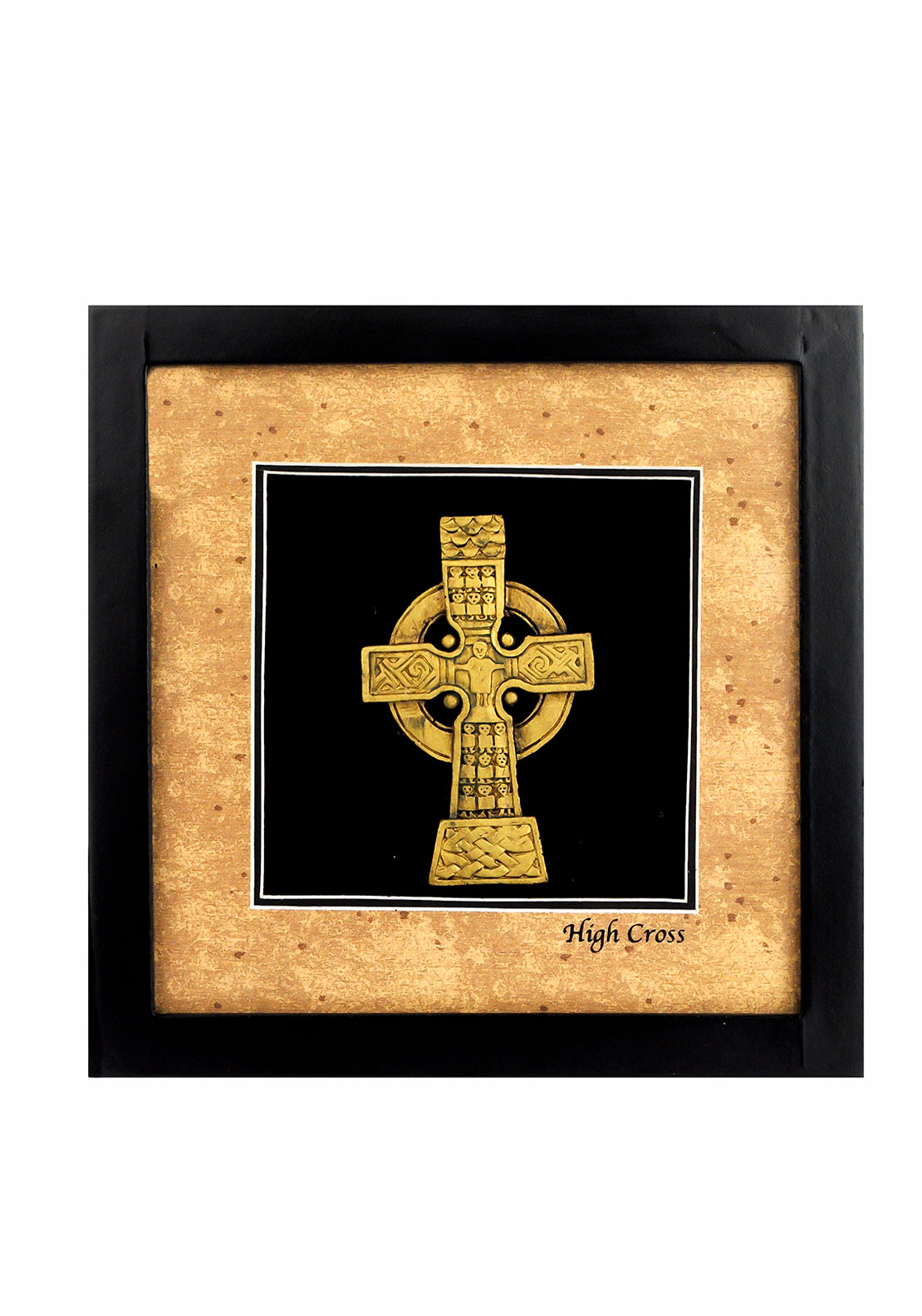 Celtic Shadows The Shadow Box Collection Irish High Cross Picture, Brown