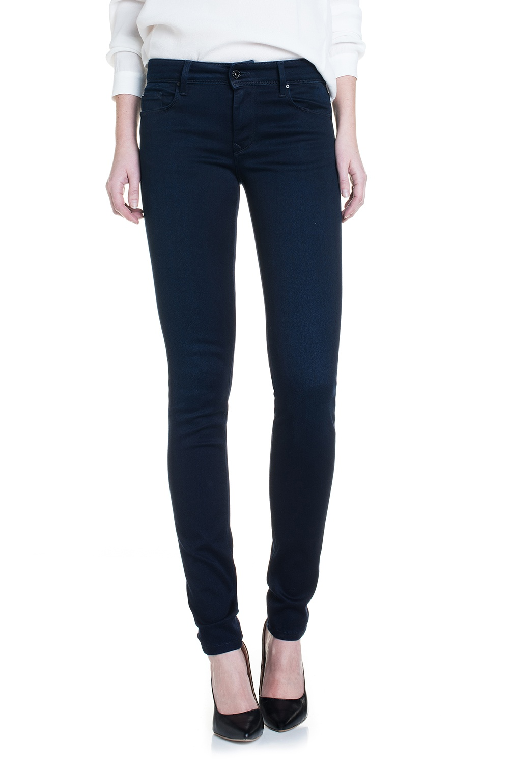 Salsa Colette Medium Rise Soft Touch Skinny Jeans, Blue