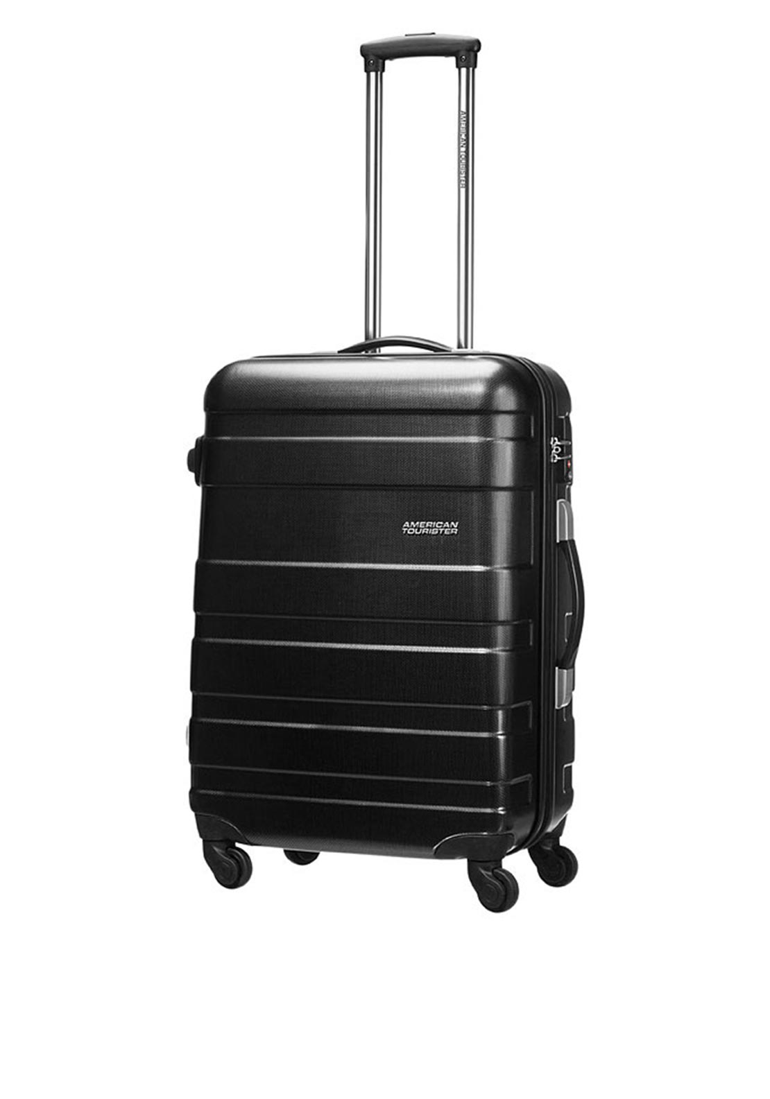 American Tourister Pasadena Spinner Large 77cm Suitcase, Black and Gold