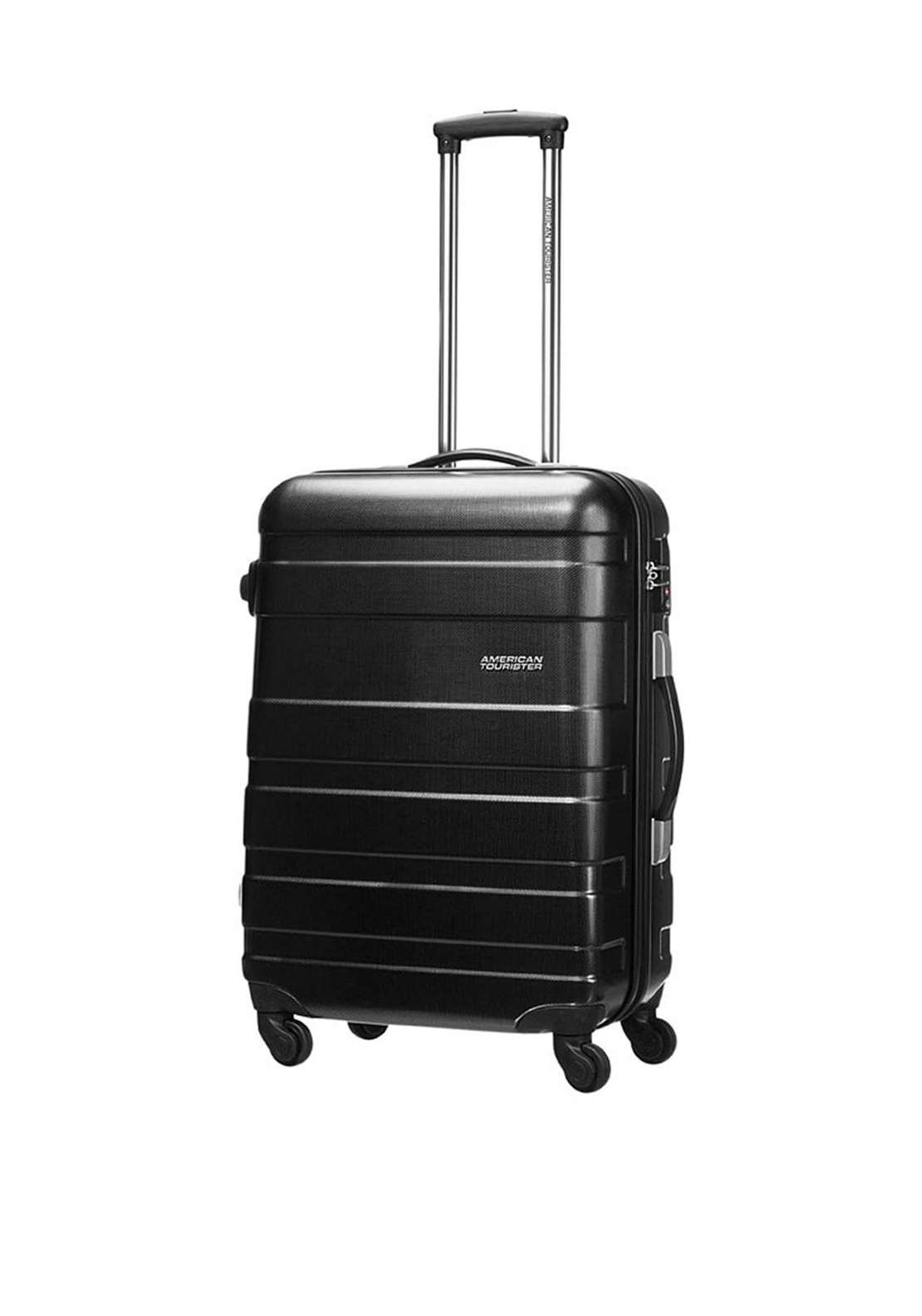 American Tourister Pasadena Spinner Medium 67cm Suitcase, Black and Gold