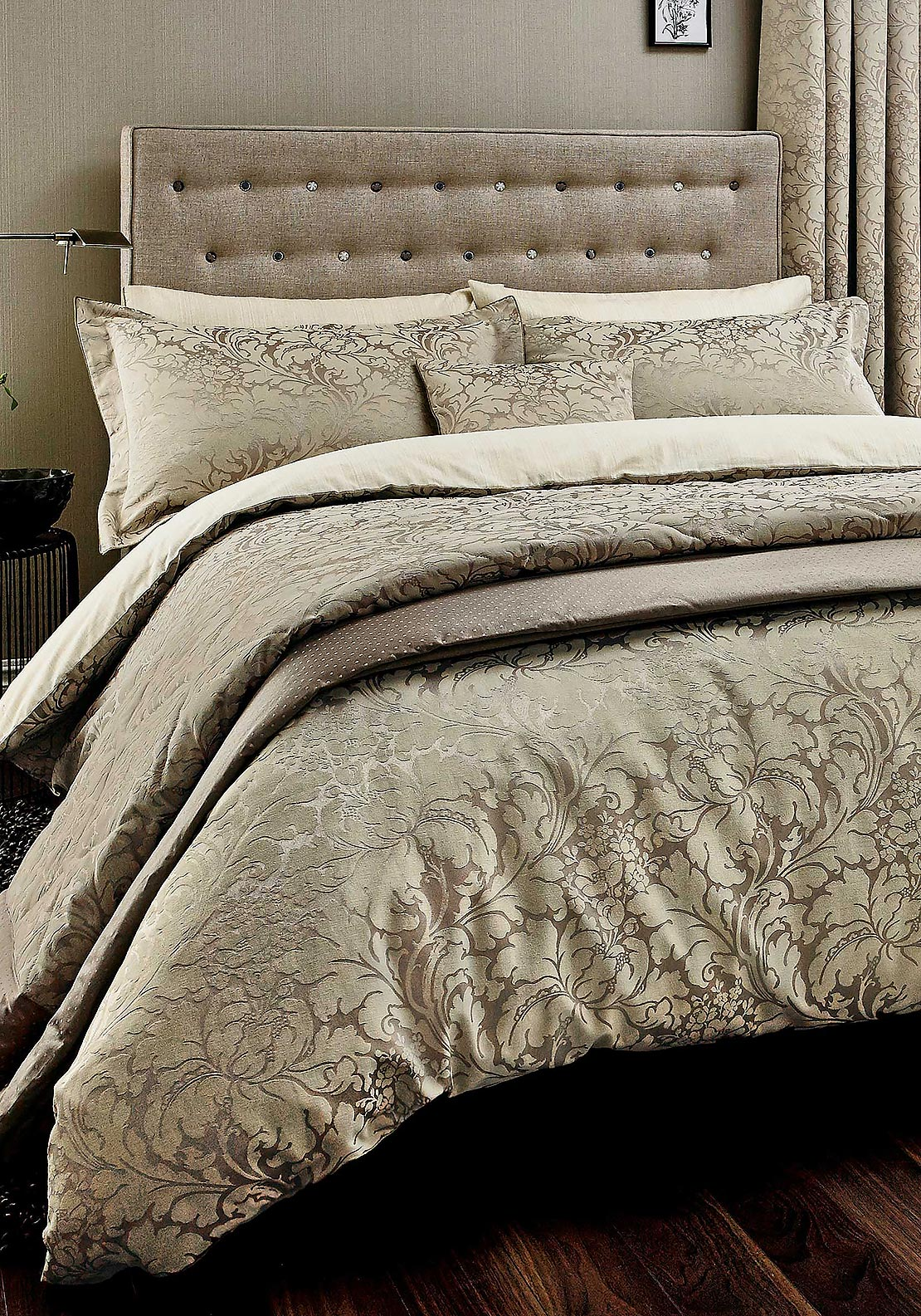 Sanderson Eleanor Jacquard Duvet Cover, Gold