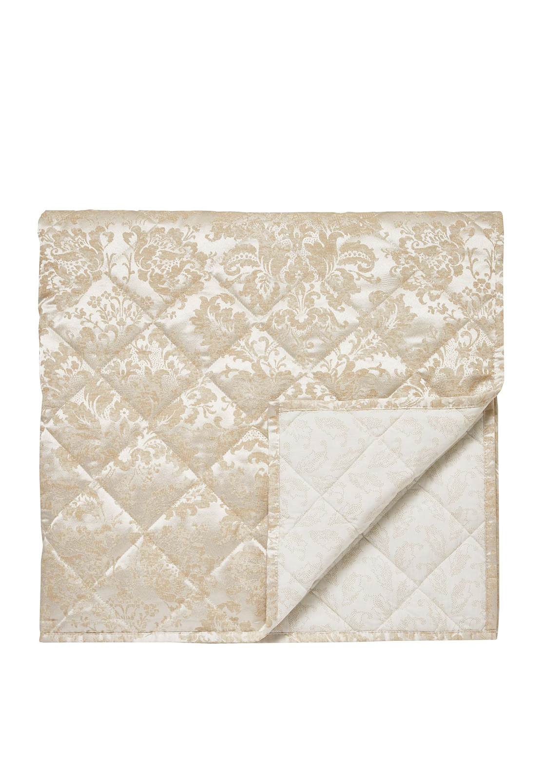 Sanderson Floriella Quilted Throw Oyster