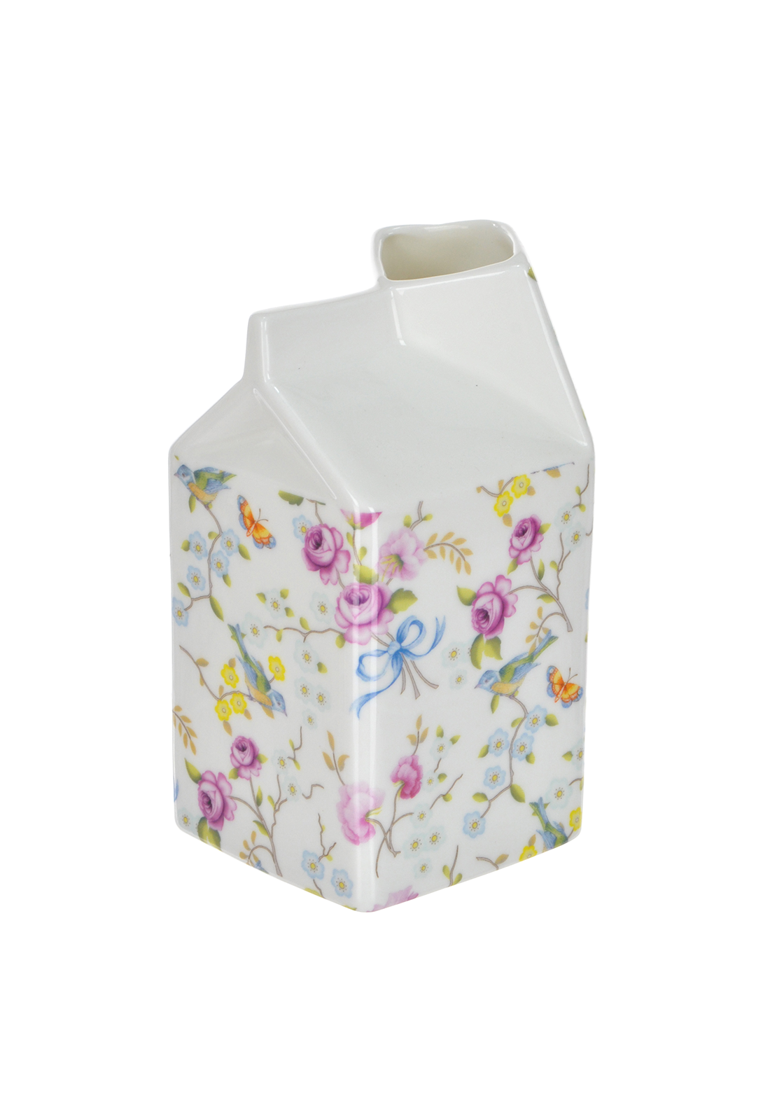 Shannon Bridge Ireland Bird Blossom Large Carton, White/Multi Floral Design