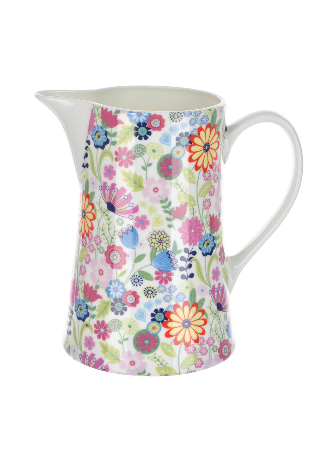 Shannon Bridge Ireland Ditsy Flowery Pint Jug, White/Multi floral Design