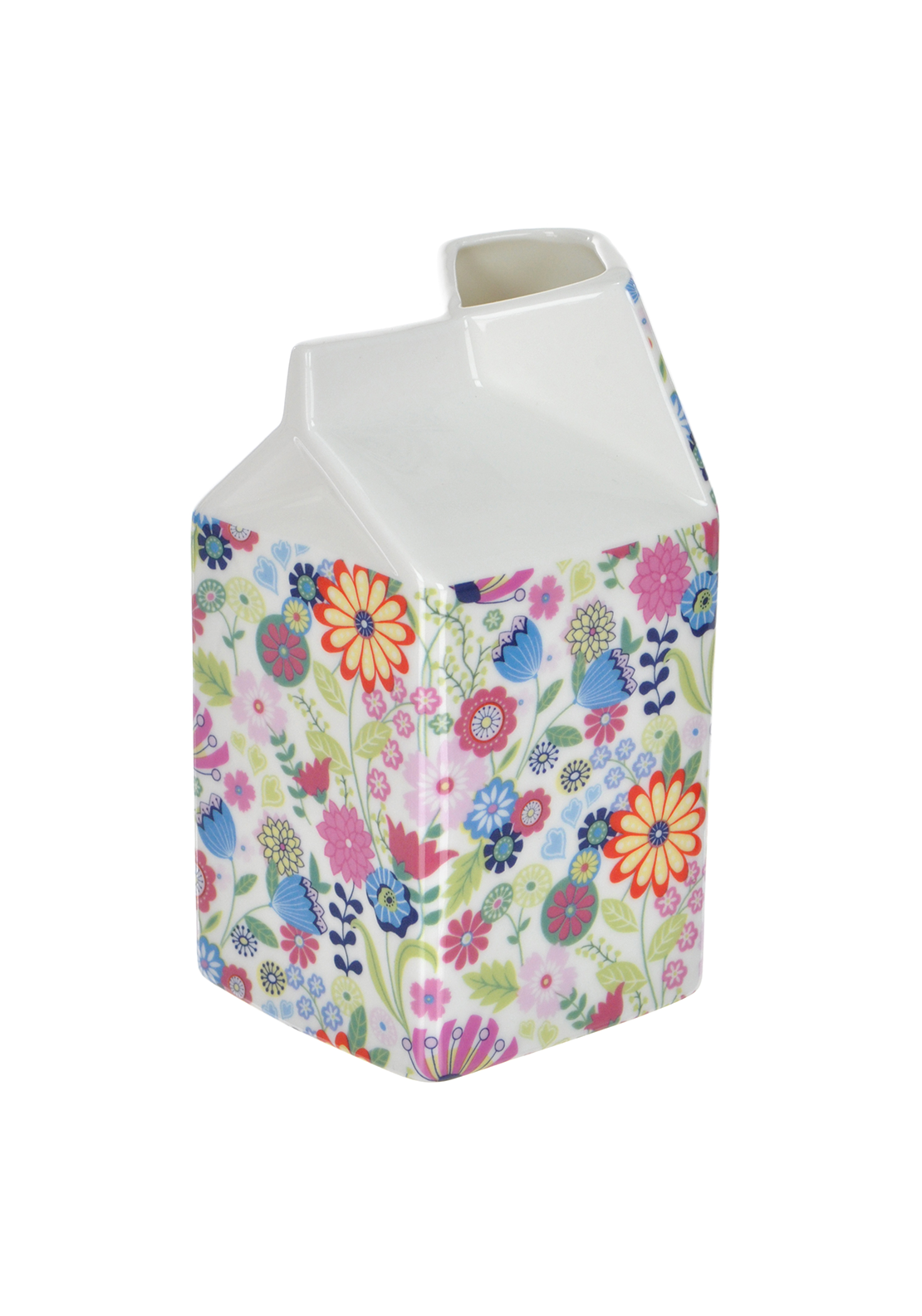 Shannon Bridge Ireland Ditsy Flowery Large Carton, White/Multi Floral Design
