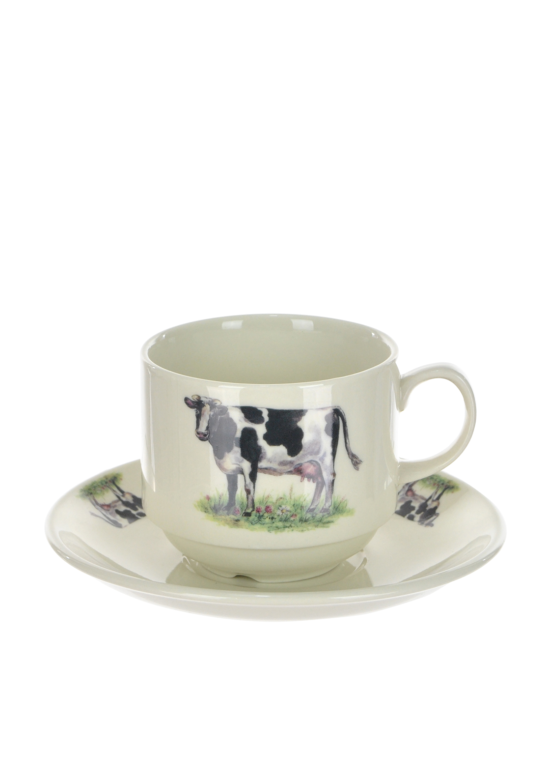 Shannonbridge Ireland Farm Cow Stacking Cup and Saucer
