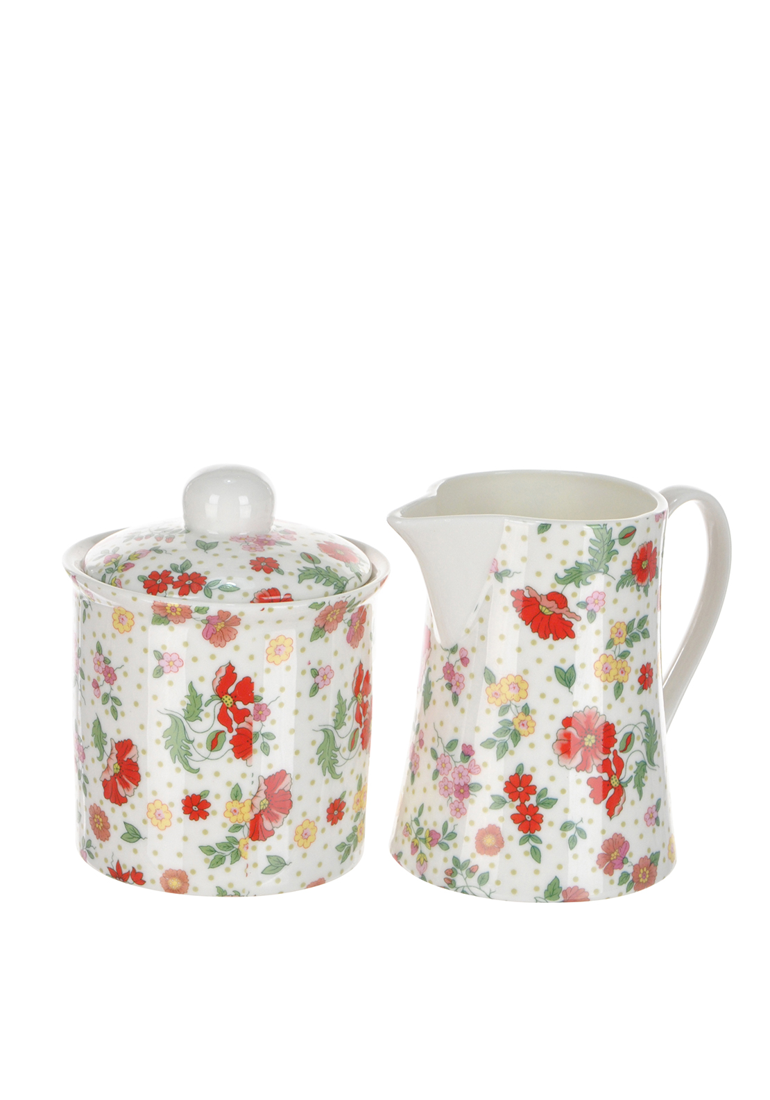 Shannon Bridge Ireland Miss Poppie 2 Piece Set, White/Multi floral Design