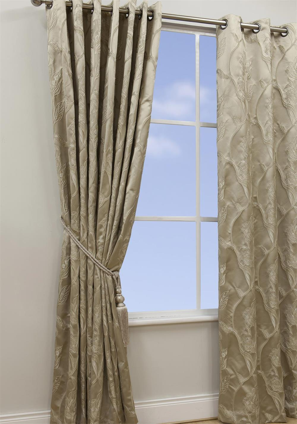 Scatterbox Chelsea Parchment Fully Lined Ready-Made Curtains, Beige