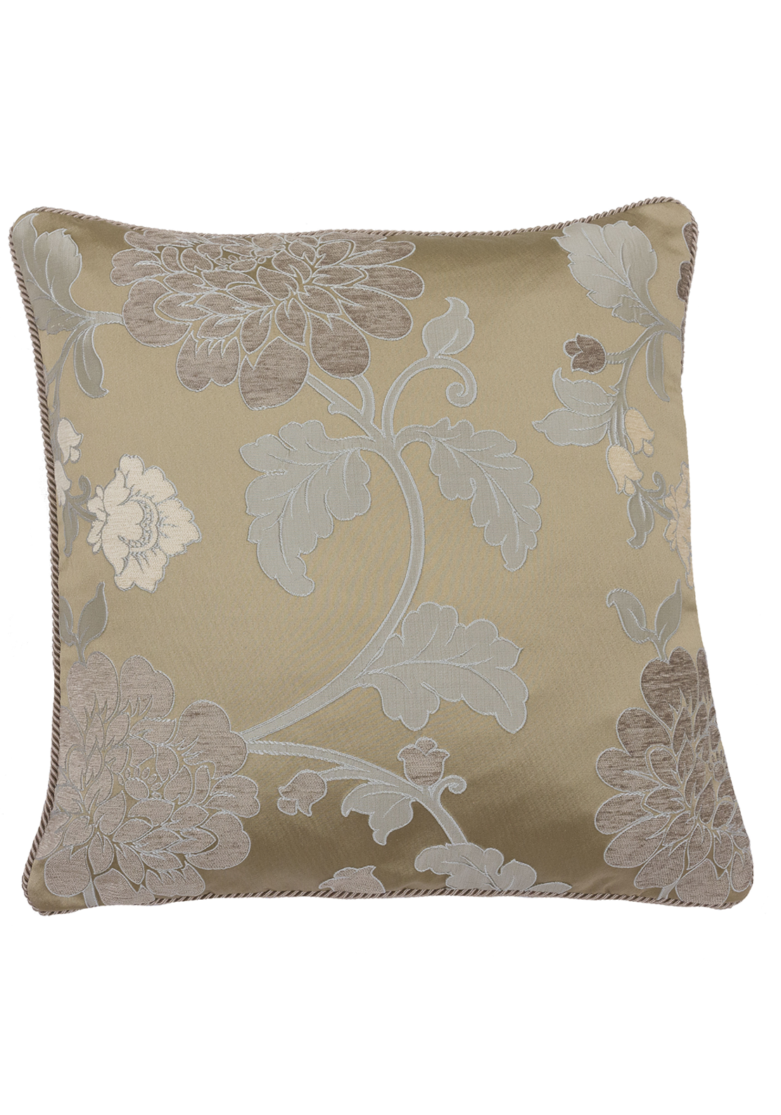 Scatterbox Lorenzo Chenille Floral Feather Filled Cushion, 45 x 45cm Antique
