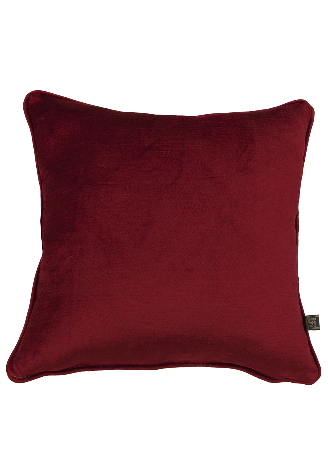 Scatterbox Velvet Sheen Filled Cushion, 45 x 45cm Red
