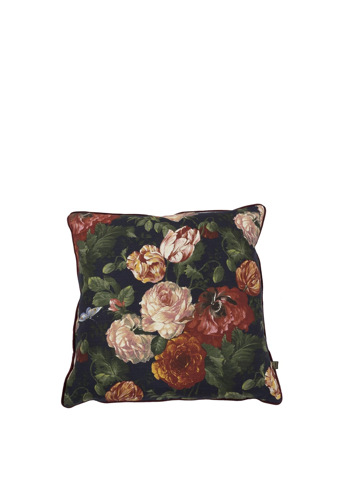 Scatterbox Vermeer Floral Feather Filled Cushion, 45cm x 45cm Navy