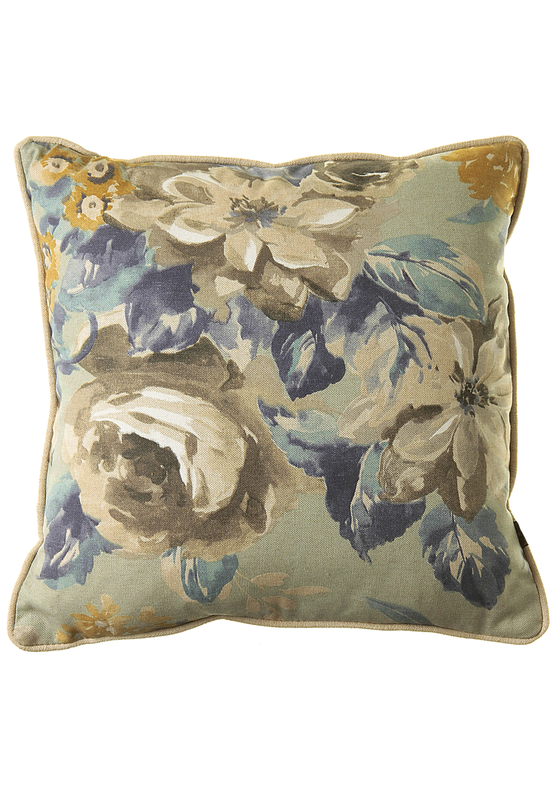 Scatterbox Rosie Floral Cushion, 43 x 43cm Blue
