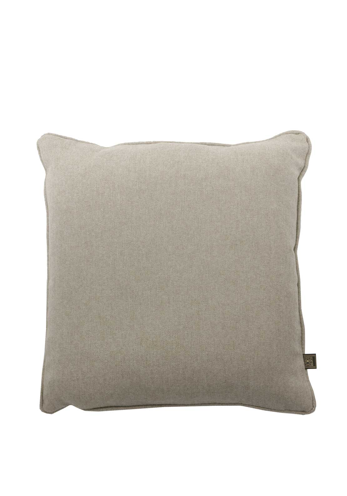 Scatterbox Tweed Cushion Natural 43 x 43cm