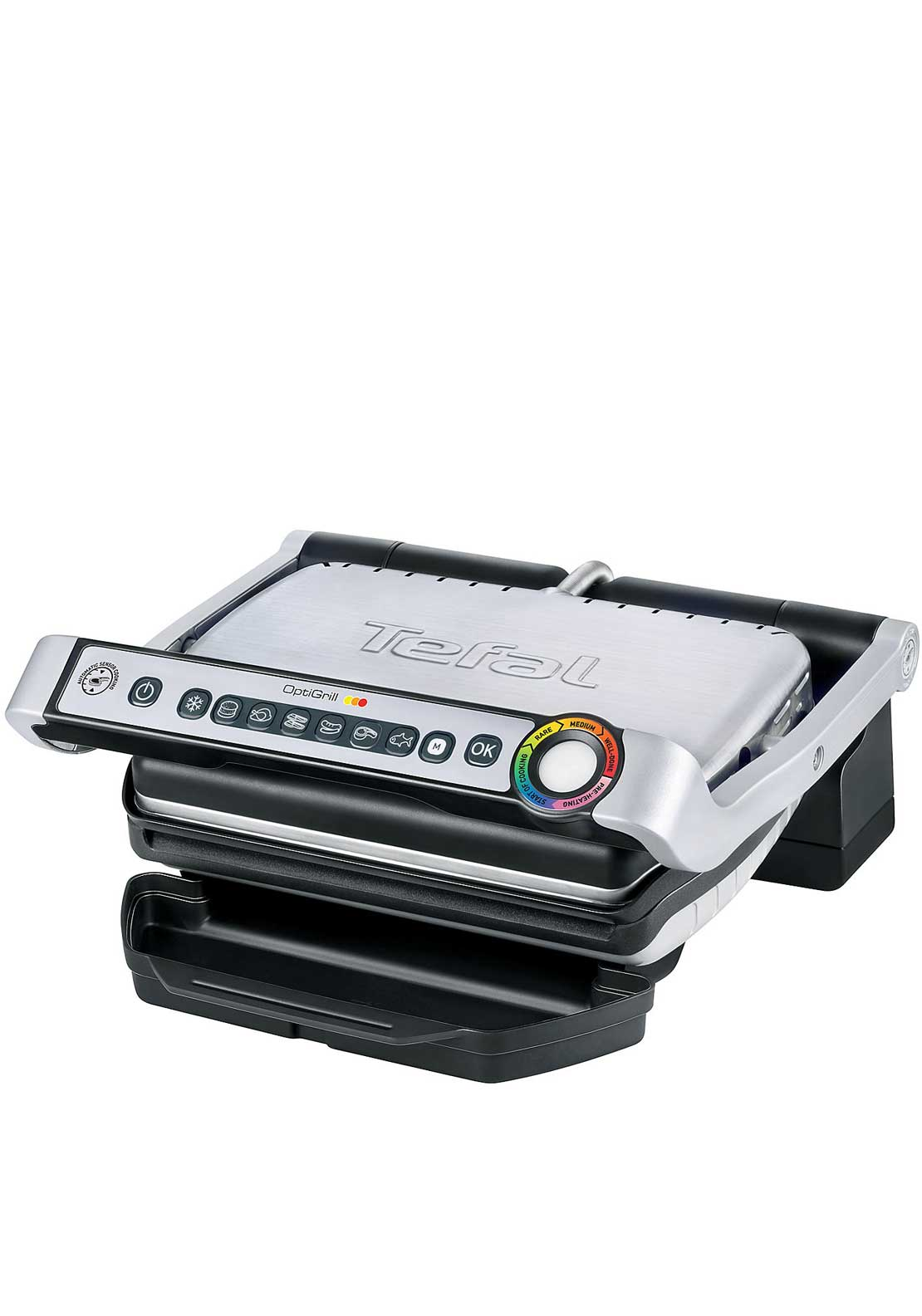 Tefal OptiGrill, Stainless Steel & Black