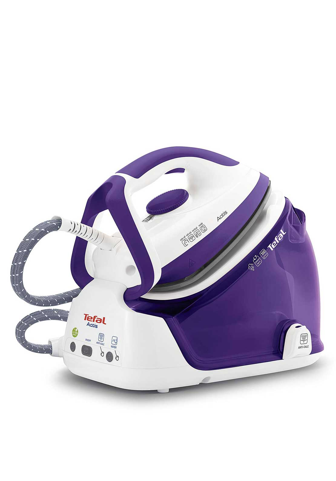 Tefal Actis High Pressure Steam Generator Iron, Purple and White