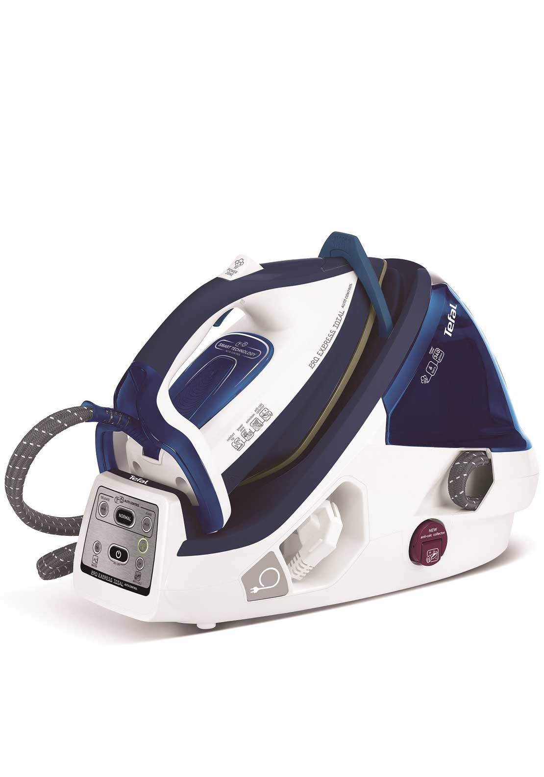 Tefal Pro Express Total Auto Control Iron, White & Blue