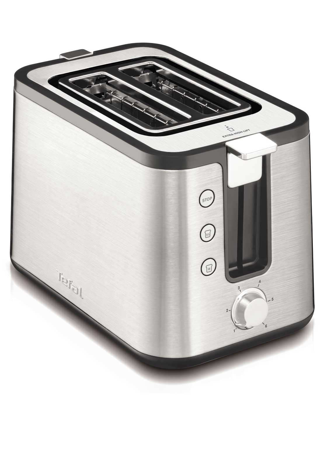 Tefal Prelude 2 Slot Toaster, Stainless Steel & Black