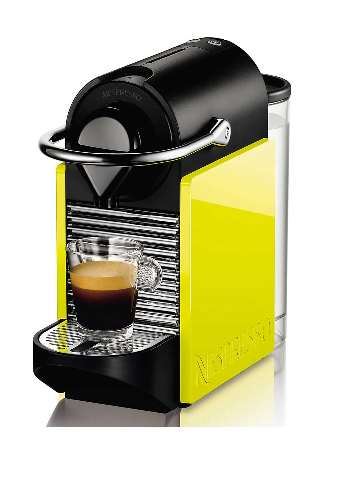 Nespresso Pixie Clips Krups Coffee Machine, Neon Yellow and Black