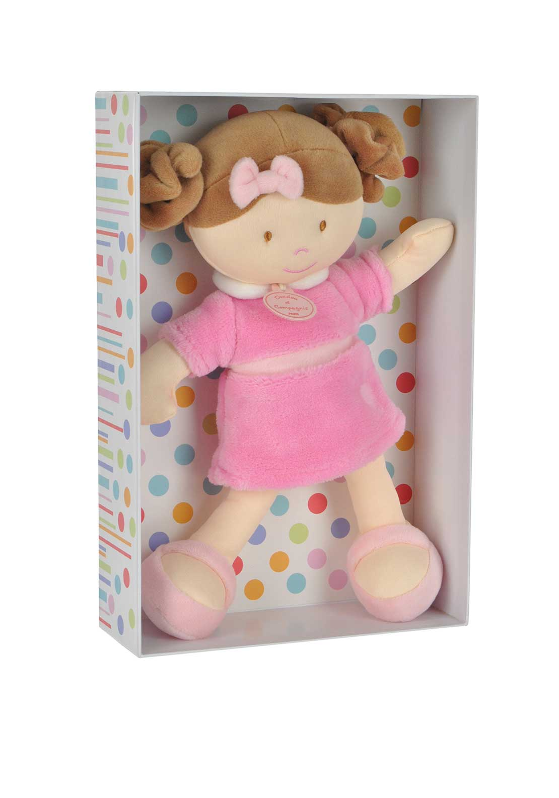 Doudou et Compagnie Soft Toy Dolly, Pink