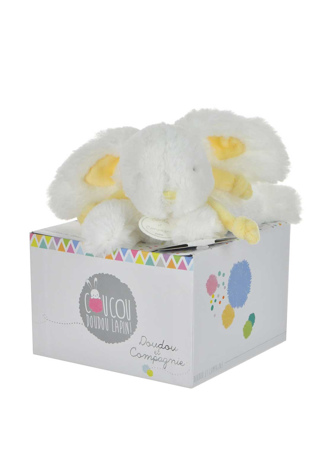 Doudou et Compagnie Bunny in a Box, Yellow