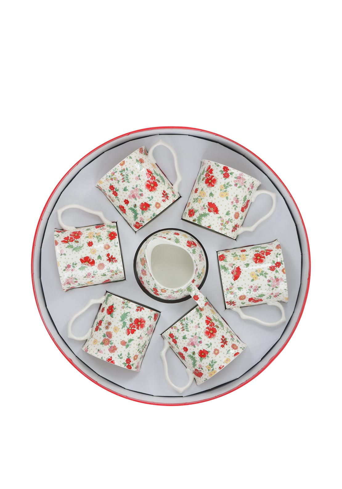 Shannonbridge Poppies 8 Piece Set, Multi-Coloured