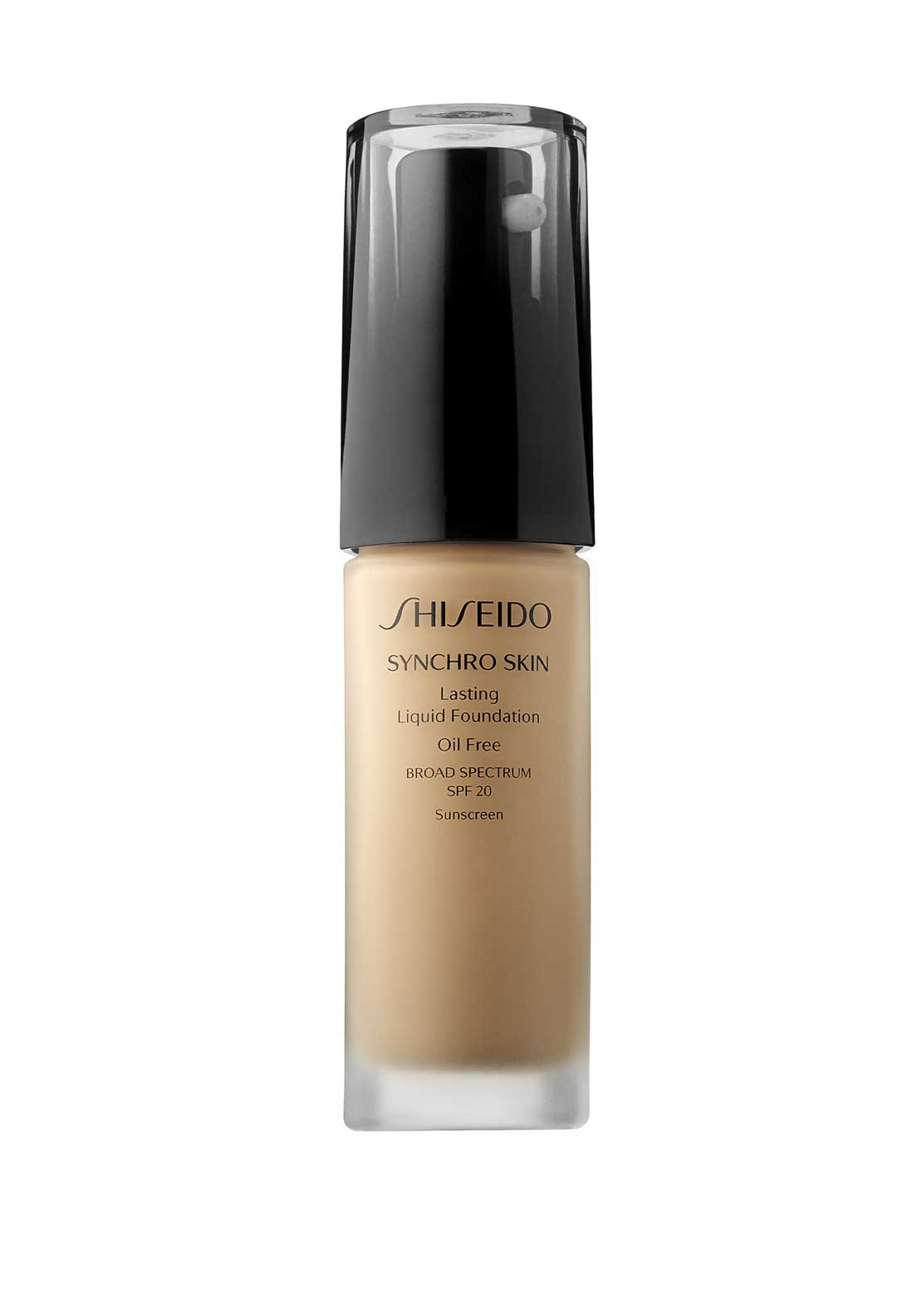 Shiseido Synchro Skin Lasting Liquid Foundation, Broad Spectrum SPF 20, Golden 3