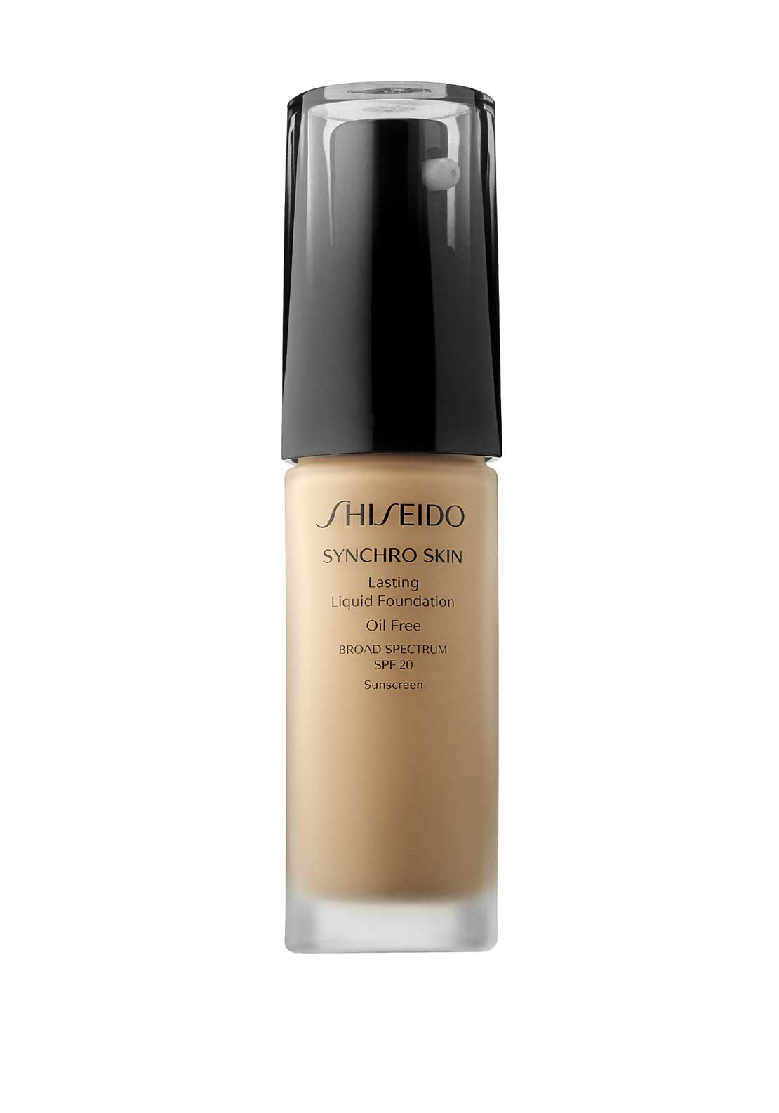 Shiseido Synchro Skin Lasting Liquid Foundation, Broad Spectrum SPF 20, Natural 3