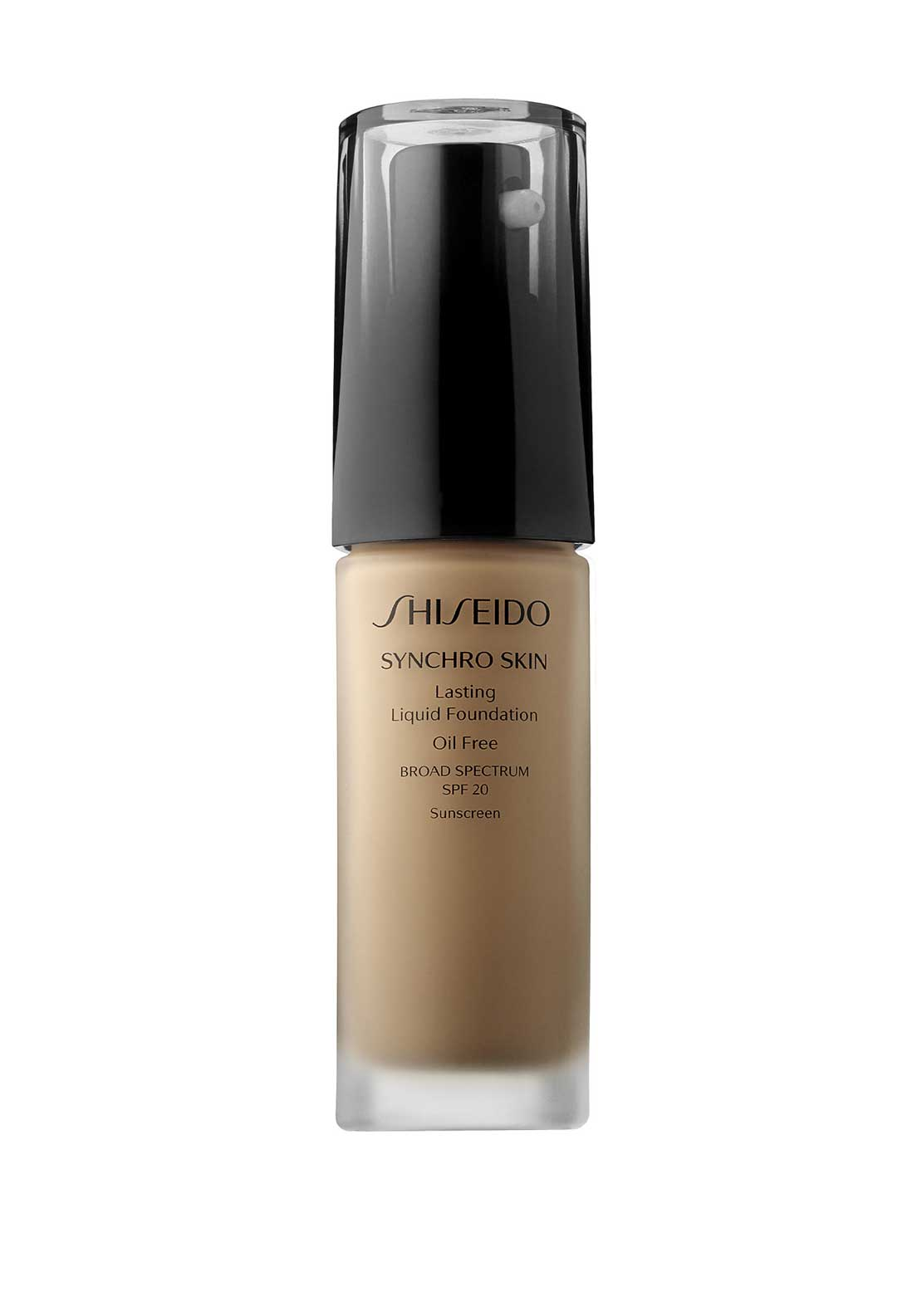 Shiseido Synchro Skin Lasting Liquid Foundation, Broad Spectrum SPF 20, Natural 4