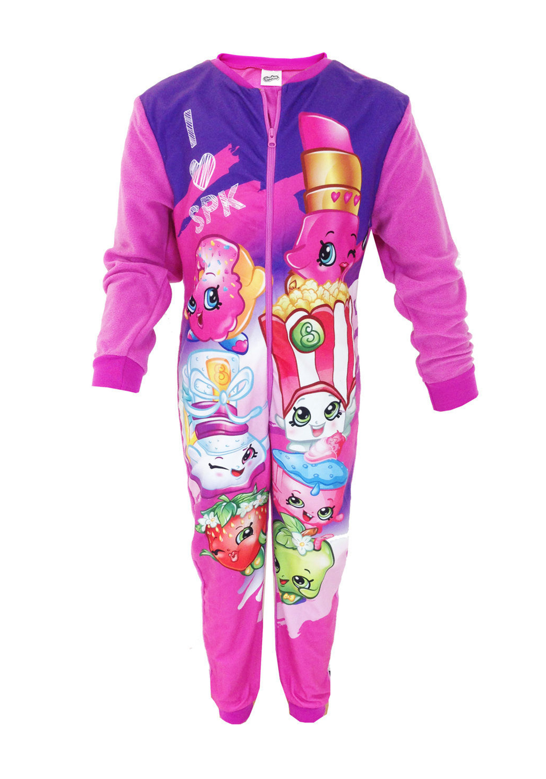 Shopkins Girls Onsie Sleepsuit, Pink