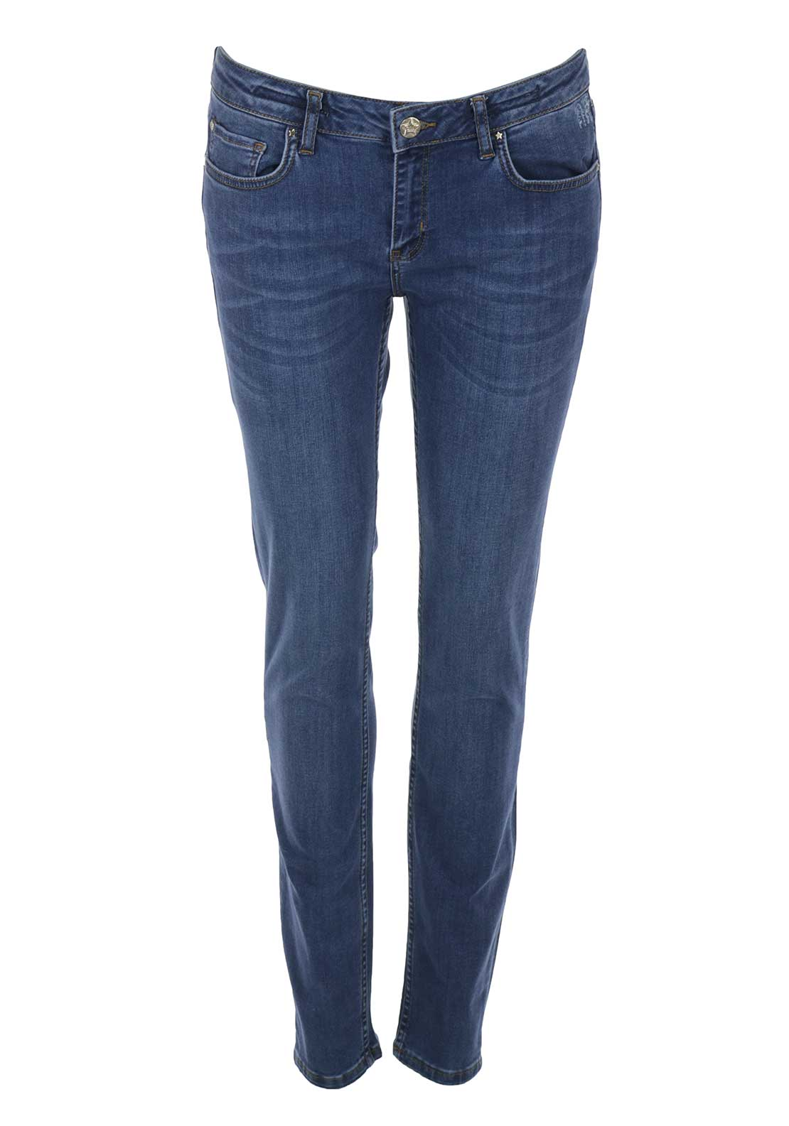 Silvian Heach Slim Leg Jeans, Blue Denim Wash