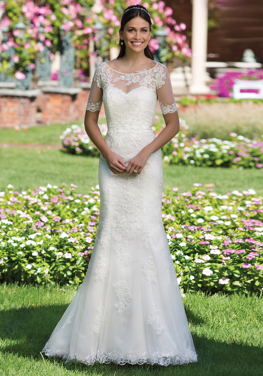Sincerity 3911 Wedding Dress UK Size 12, Ivory