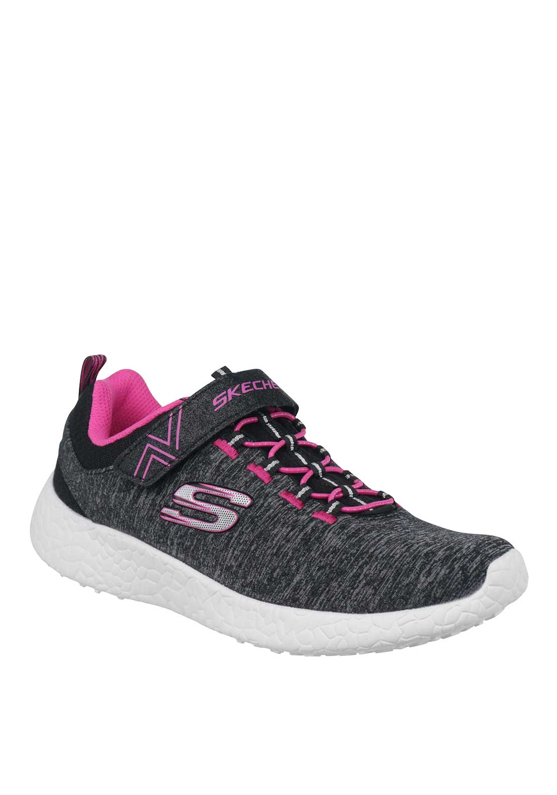 Skechers Girls Burst Velcro Runners, Grey