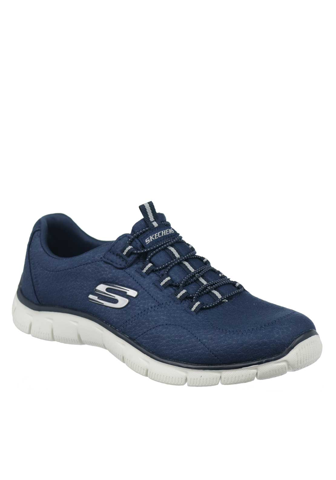 Skechers Womens Relaxed Fit Empire Take Charge Slip On Trainers, Navy