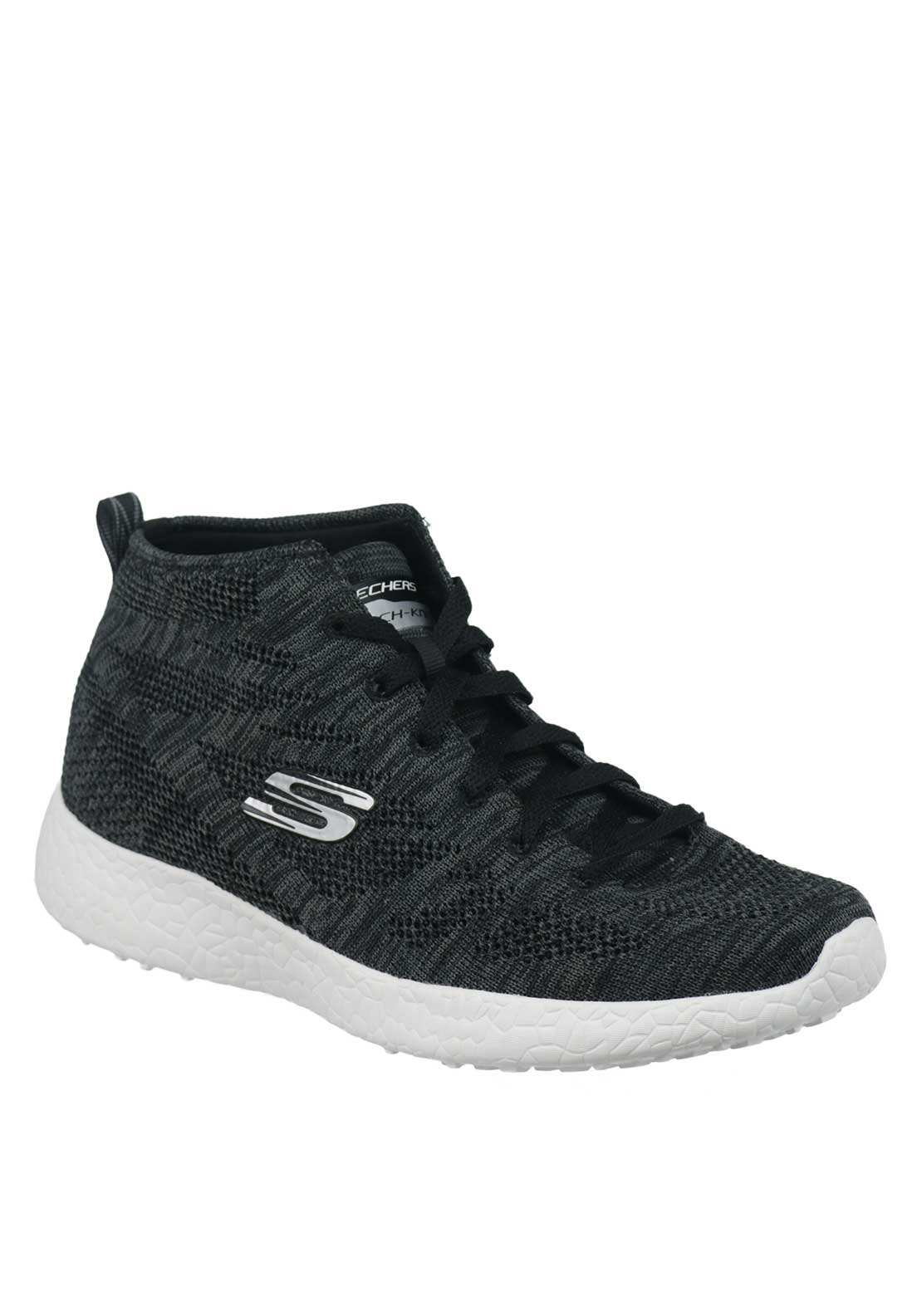 Skechers Womens Burst Divergent Hi Top Trainers, Charcoal Grey