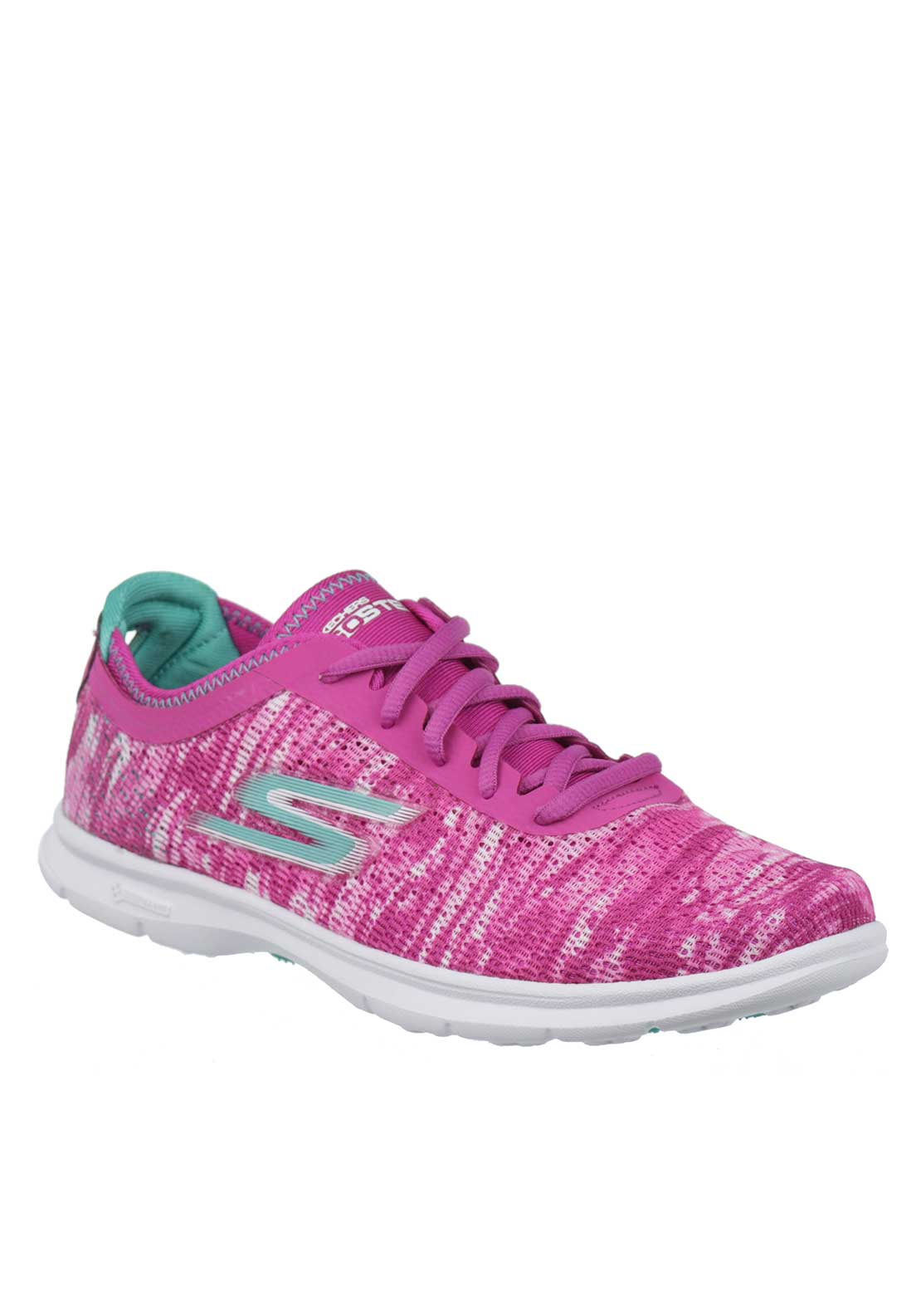 Skechers Womens Go Step Knit Trainers, Pink