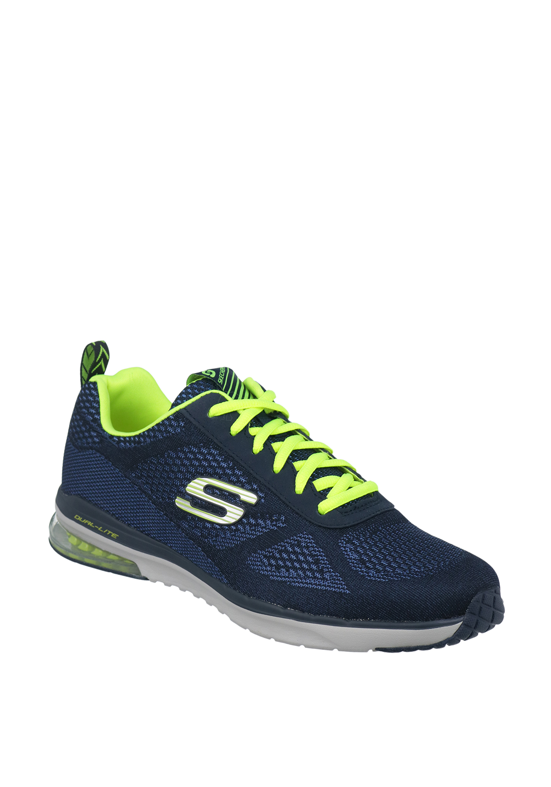 Skechers Mens Dual Lite Trainers, Navy