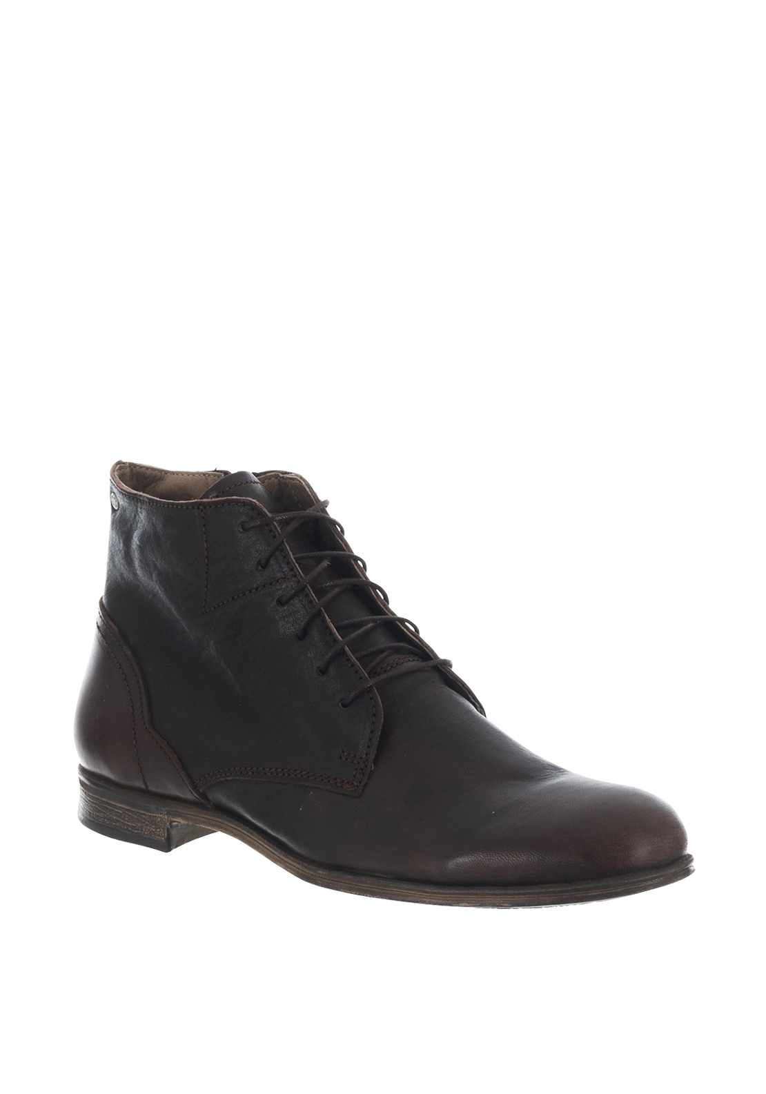 Sneaky Steve Dirty Mid Leather Boot, Brown