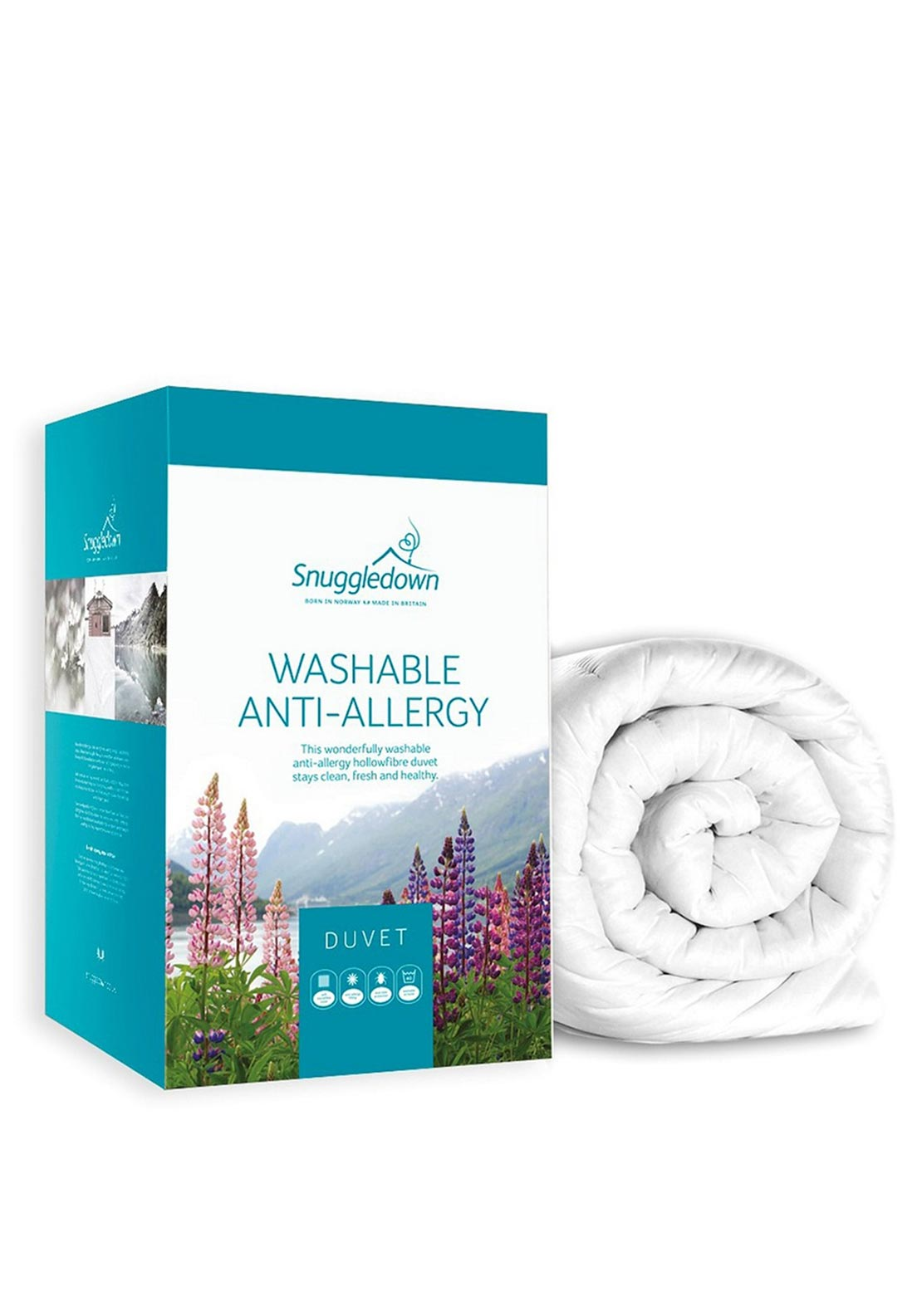 Snuggledown Washable Anti-Allergy Duvet, 4.5 Tog