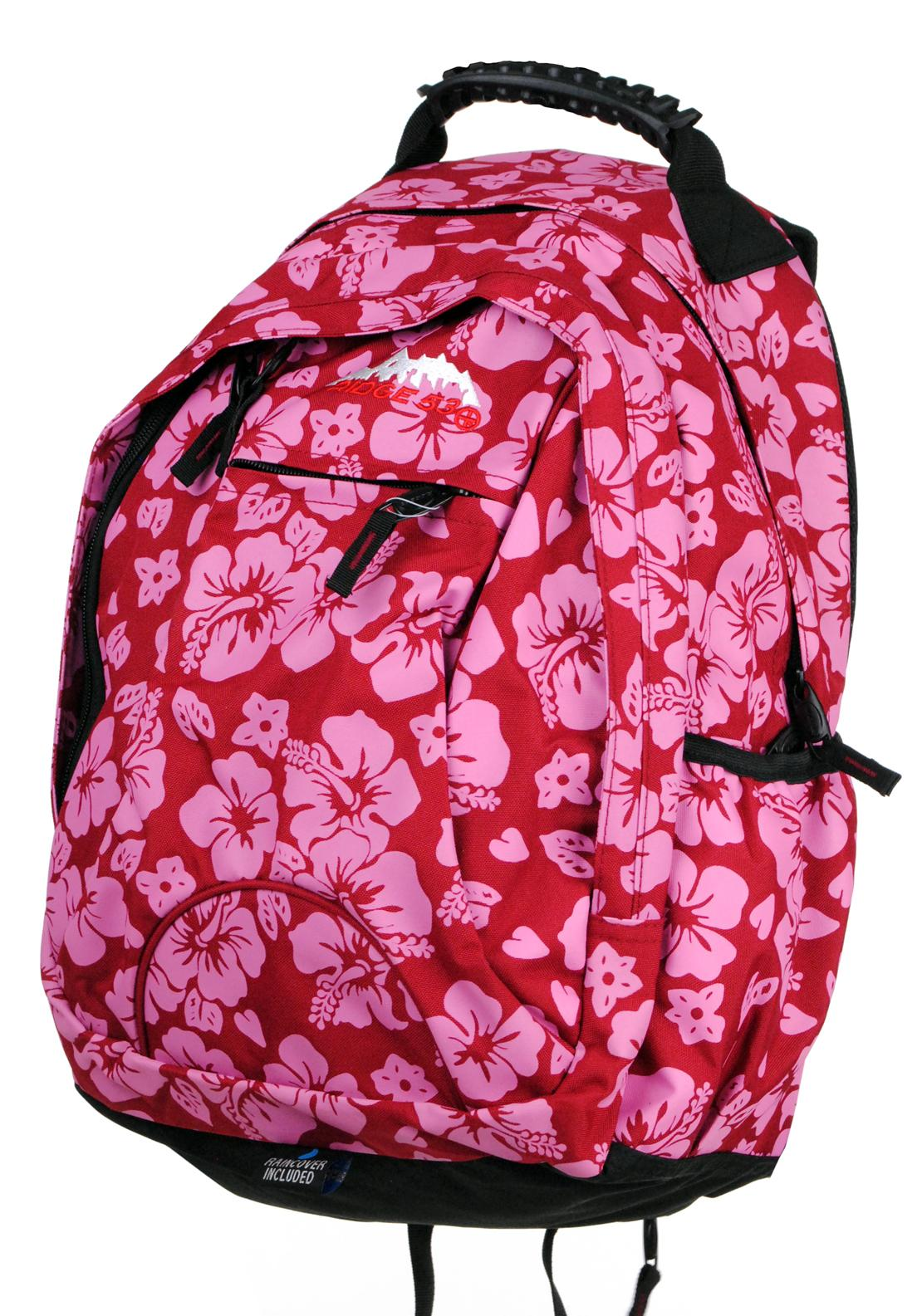 Ridge 53 Abbey Backpack School Bag, Red / Pink