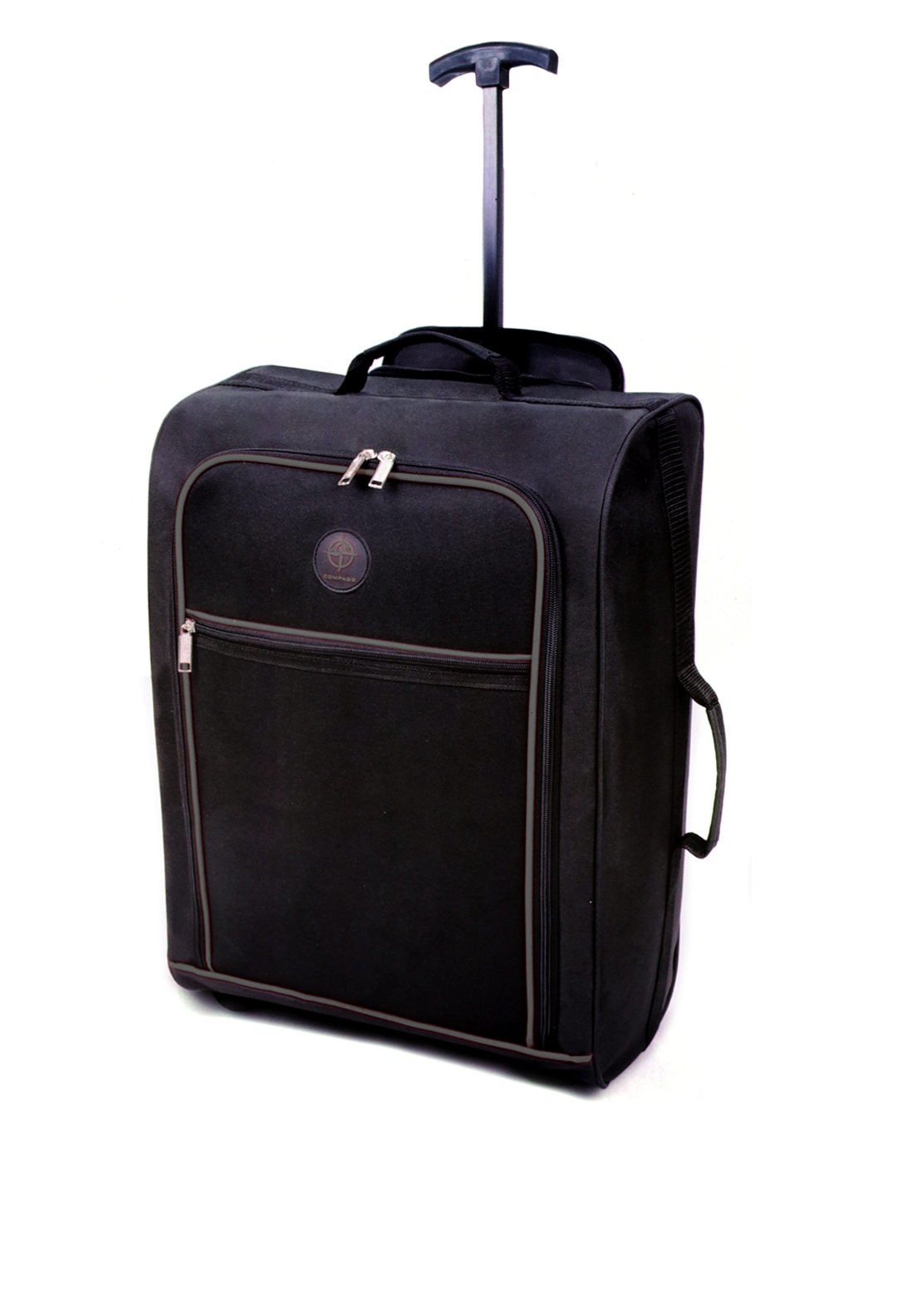 Compass Two Wheel Cabin Suitcase, Black and Grey