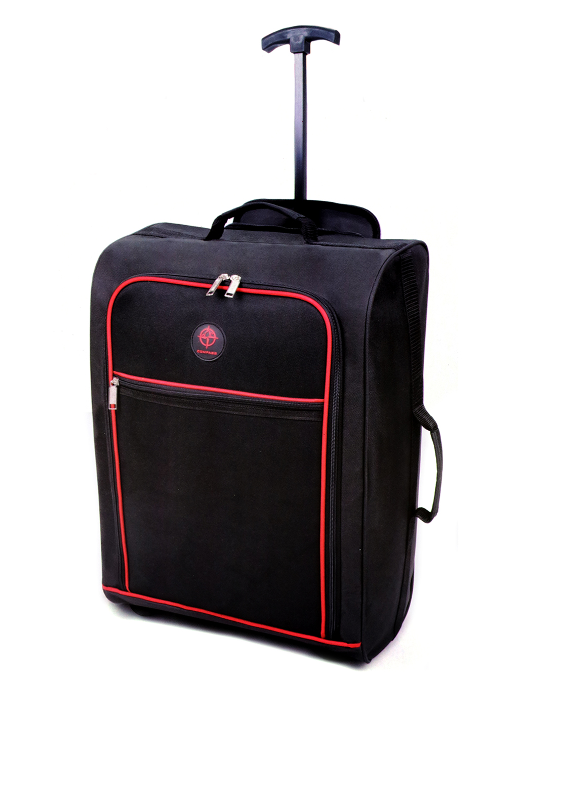 Compass Two Wheel Cabin Suitcase, Black and Red