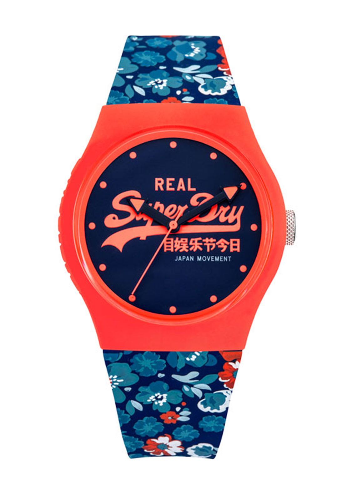 Superdry Womens Urban Floral Watch, Navy