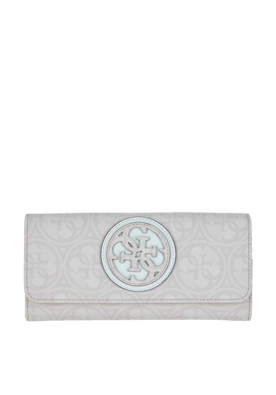 Guess Carly Large Flap Wallet, Pale Gold
