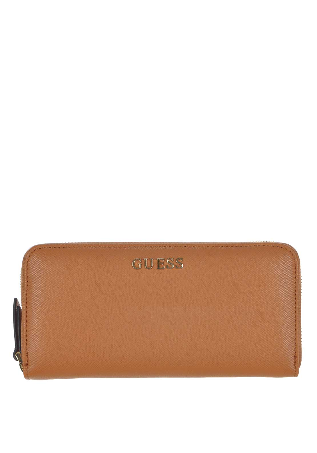 Guess Sissi Large Zip Around Wallet, Cognac