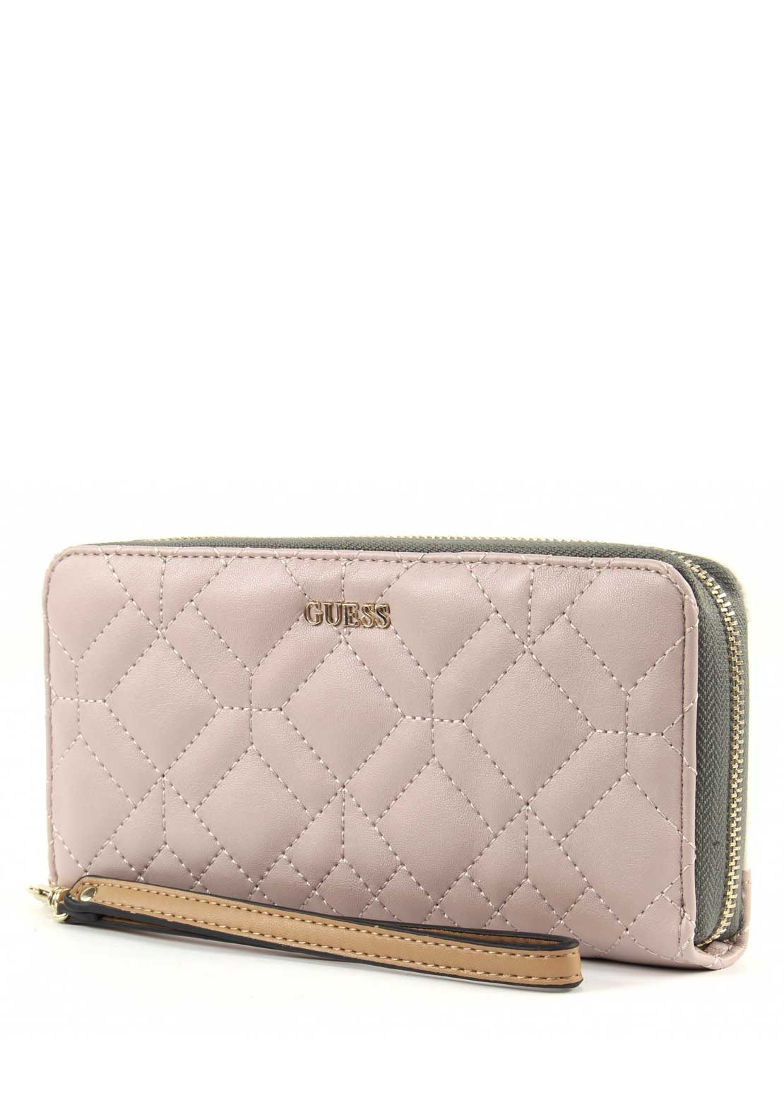 Guess Womens Ines Large Zip Around Wallet, Nude