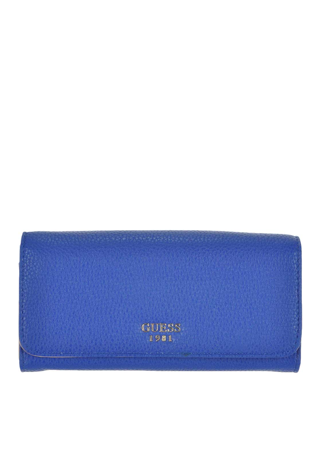 Guess Cate Large Flap Wallet, Blue