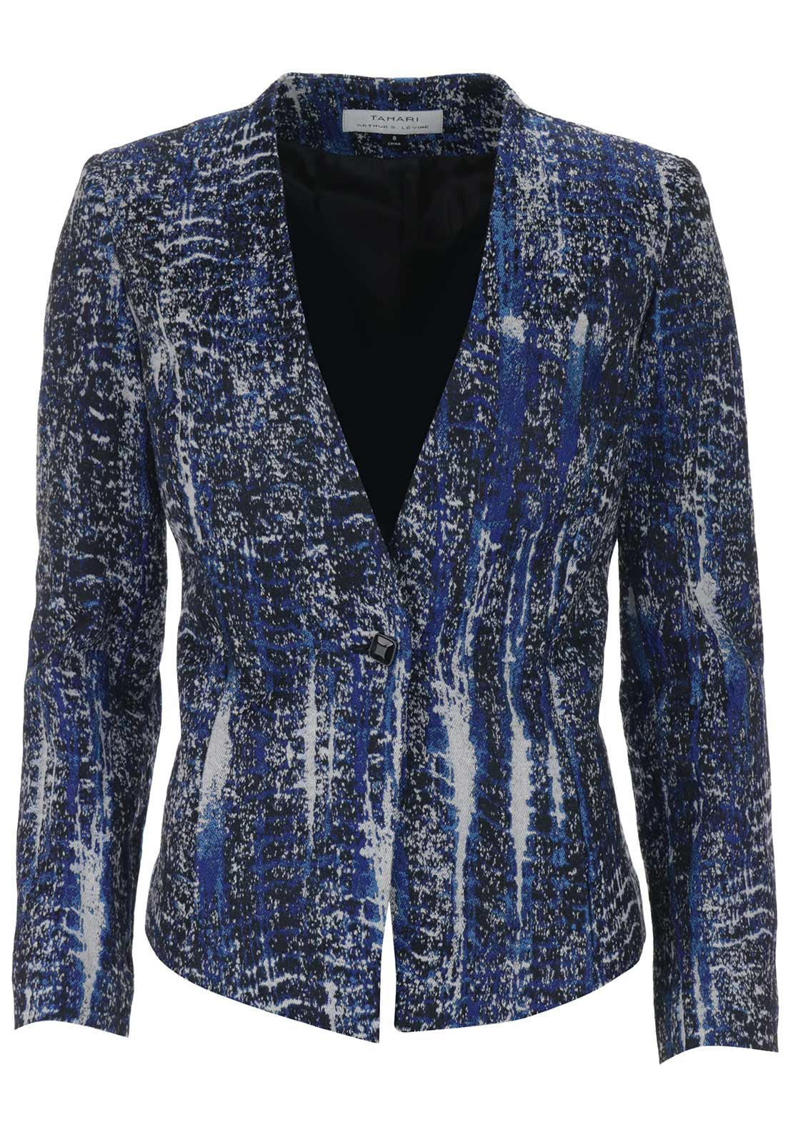 Tahari by Arthur S. Levine Abstract Print Jacket, Blue