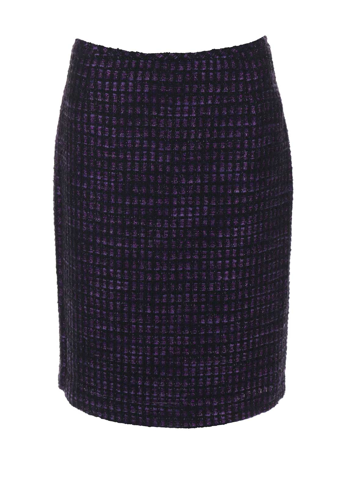 Tahari by Arthur S. Levine Boucle Skirt, Purple