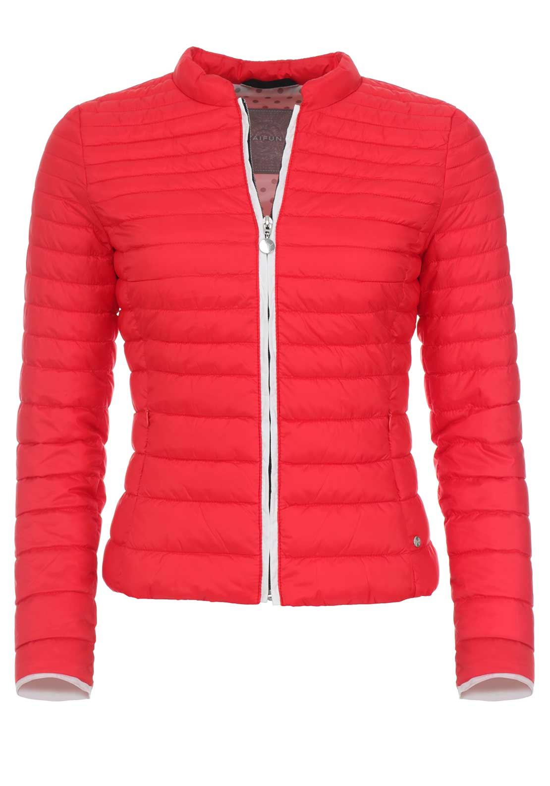 Taifun Padded Slim Fit Jacket, Red
