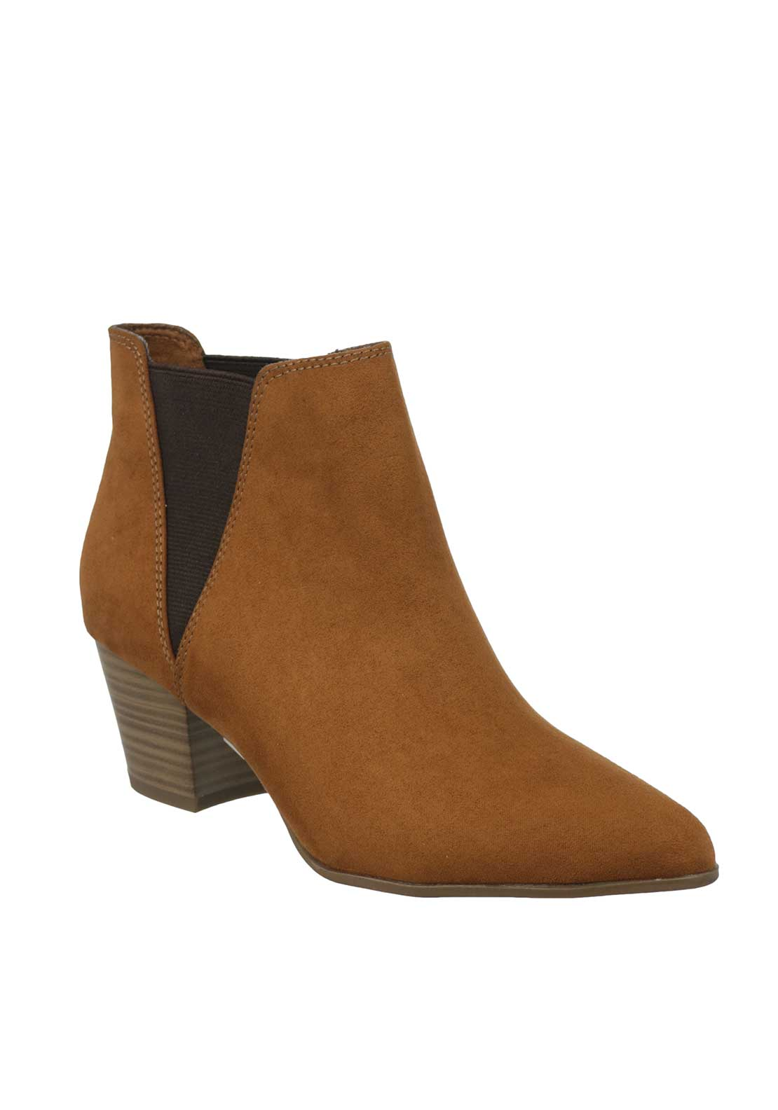 Tamaris Pointed Chelsea Ankle Boots, Tan